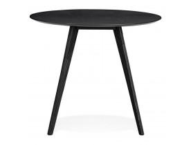Zwarte ronde keukentafel 'MIDY' in Scandinavische stijl - ø 90 cm