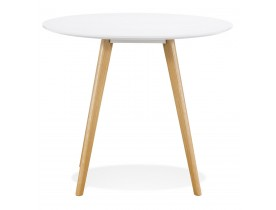 Witte ronde keukentafel 'MIDY' in Scandinavische stijl - ø 90 cm
