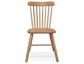 Natuurkleurige houten design stoel 'MONTANA' met rugleuning met spijlen - bestel per 2 stuks / prijs voor 1 stuk