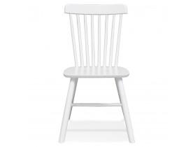Witte houten design stoel 'MONTANA' met rugleuning met spijlen - bestel per 2 stuks / prijs voor 1 stuk