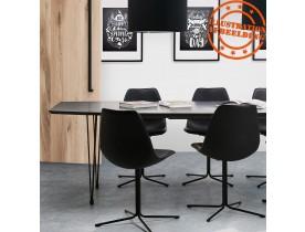 Zwarte uitschuifbare eetkamer-/vergadertafel 'MOTUS' - 170(270)x100 cm