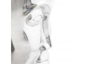 Lage kruk 'NAGU' in gepolijst aluminium