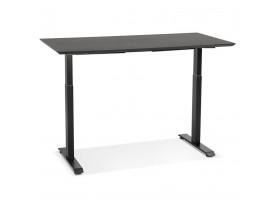 In hoogte verstelbare bureau 'NOVELLA' van hout en zwart metaal - 150x70 cm