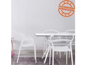 Design binnen- en buitenshuis tafel 'OCEAN' van wit plastic - 180x90 cm