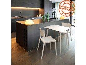 Keukenstoel 'OMA' van witte kunststof