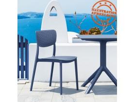 Geperforeerde terrasstoel 'PALMA' van donkergrijze kunststof