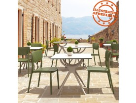 Geperforeerde terrasstoel 'PALMA' van groene kunststof