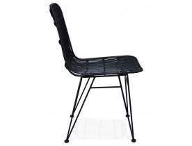Designstoel 'PANAMA' in zwart rotan