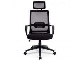 Design bureaustoel 'PARKER' van zwarte stof