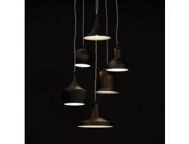 Hanglamp 'PIGAL' met 6 verschillende lampenkappen