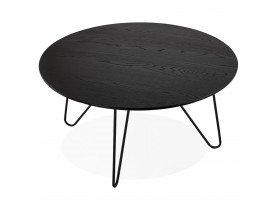 Zwarte design tafel 'PLUTO' in industriële stijl