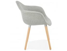 Design stoel met armleuningen 'RAMBLA' van grijze stof