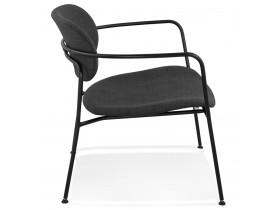 Design loungefauteuil 'RIKA' van donkergrijze stof
