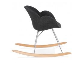 Design schommelstoel 'ROCKY' in donkergrijze stof