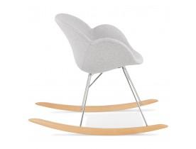 Design kantelstoel 'ROCKY' lichtgrijs in stof