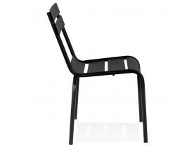 Zwarte metalen design stoel 'ROMEO' stapelbaar