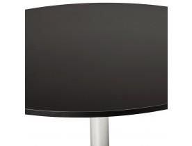Ronde, zwarte bureau-/eettafel 'SAOPOLO' - Ø 120 cm
