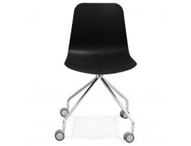 Design bureaustoel 'SLIK' zwart op wielen