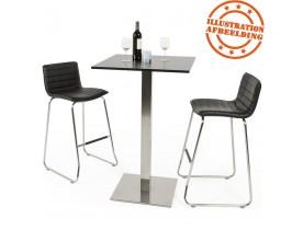 Zwart, vierkant tafelblad 'SPANO' 70x70 cm