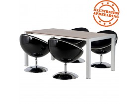 Bolvormige zwarte 360° draaibare design zetel 'SPHERA'