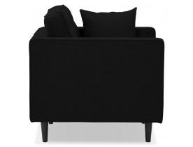 Zwarte stoffen salonfauteuil met 1 plaats 'STAGU MICRO'