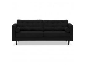 Zwarte stoffen rechte zetel 'STAGU XL' - Zetel met 3 plaatsen
