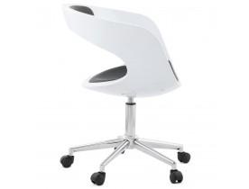 Zwart-witte bureaustoel 'STRATO' op wielen