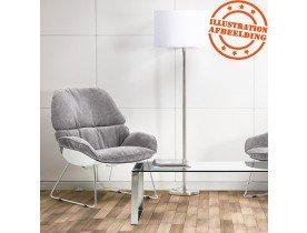 Design loungezetel 'STARTUP' in lichtgrijze stof