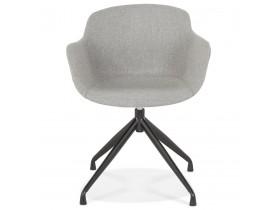 Design stoel met armleuningen 'SWAN' van grijze stof
