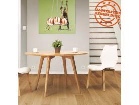 Naturel houten, ronde eettafel 'SWEDY' in Scandinavische stijl - Ø 120 cm