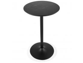 Ronde hoge tafel 'TAMAGO' van hout en zwart metaal - Ø 60 cm