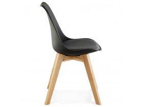Zwarte, moderne stoel 'TEKI'