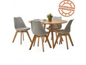 Moderne stoel 'TEKI' grijs