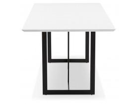Eettafel / design bureau 'TITUS' van wit hout - 180x90 cm
