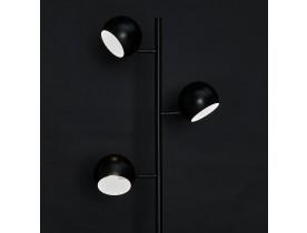 Zwarte metalen vloerlamp 'TRYA' met drie verstelbare lampenkappen