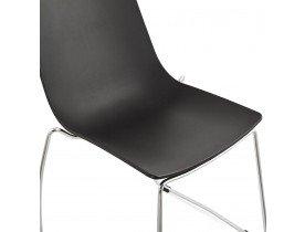 Zwarte design stoel 'TRENO' in kunststof