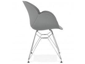 Moderne stoel 'UNAMI' grijs van kunststof