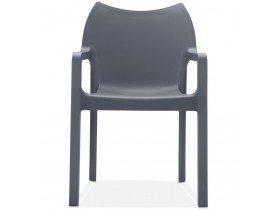 Design terrasstoel 'VIVA' uit donkergrijze kunststof
