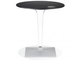Zwarte ronde terrastafel 'VOCLUZ' voor binnen/buiten - Ø 68 cm
