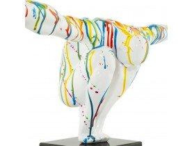 Decoratief beeld 'WISE' - atleet in veelkleurig polyhars