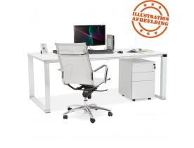 Groot recht directiebureau 'XLINE' in wit hout - 200x100 cm