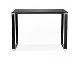 Hoge tafel/bureau van zwart glas 'XLINE HIGH TABLE' - 140x70 cm