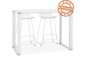 Hoge tafel/bureau van wit glas 'XLINE HIGH TABLE' - 140x70 cm