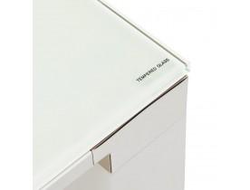 Design vergadertafel/eettafel 'XLINE' van wit glas - 200x100 cm
