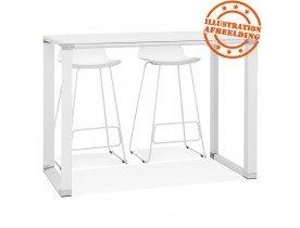 Hoge tafel/bureau van wit hout 'XLINE HIGH TABLE' - 140x70 cm