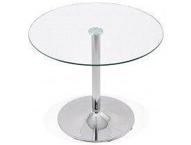 Kleine, ronde, glazen keukentafel 'YOUPI' - Ø 90 cm