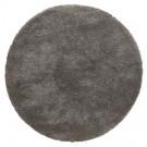 Donkergrijs rond design tapijt 'TISSO' - Ø 160 cm
