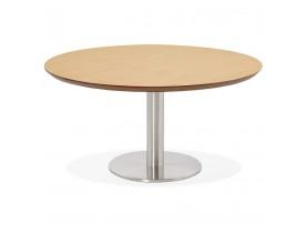 Lage loungetafel AGUA met natuurlijk houten afwerking - Ø 90 cm