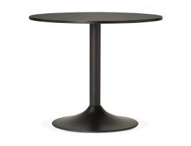 Kleine, ronde, zwarte bureau-/eettafel 'ATLANTA' - Ø 90 cm