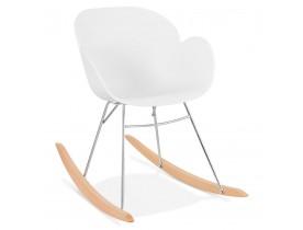 Witte design schommelstoel 'BASKUL' in kunststof
